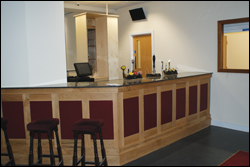 Photograph of the Bar area at Alcan mardon Social Club